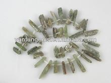 venta al por mayor verde natural en bruto cianita en piedra gemas sueltas