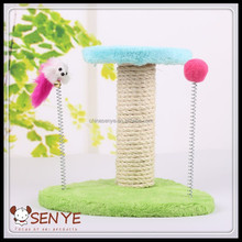 China Factory Supply Pet Cat Wooden Scratching Post Toy Cat tree