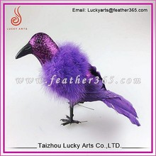 Taizhou Lucky Arts Decorative Gifts Purple Feather crow
