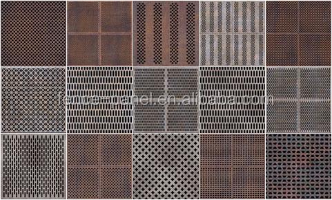 iso9001 ext rieur d coratif perfor panneau m tallique. Black Bedroom Furniture Sets. Home Design Ideas