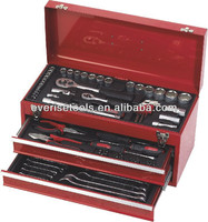 90 pcs mechanical box spanner socket wrench tool set with drawers box