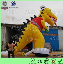 Yellow giant inflatable cartoon characters for sale (Guangzhou, oxford nylon, ANKA)