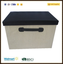 manufacturer good quality brown color storage box with cover