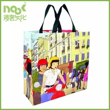 Colorful and eco-friendly promotional cheap laminated pp woven shopping bag
