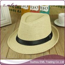Hot Sale Men's Sun Straw Fedora Hat