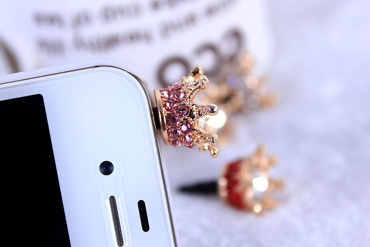 3.55mm anti dust plugs for cell phones Imperial Crown headphones Plug For iphone accessories For samsung phone Accessories 10pcs