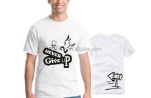 free designing fancy printed white T-shirt