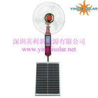 12 inch DC 12V table rechargeable fan use solar or battery or Adapter