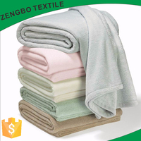 soft and warm blanket on the bed by 100% poly fleece