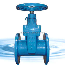 BS5163 ductile iron GGG50/40 resilient seated gate valve flanged 4''/6''/12''