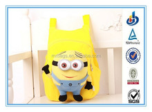 2015 Fashion High Quality Despicable Me Minions Toddler Children PP Plush Toy Kids School Bag