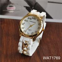 Fashion Men Army Military Silicone Rubber Sport Unisex Quartz Wrist Watch WhiteWAT1769