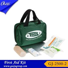 GJ-2500-2 OEM Manufacture Eco-Friendly green outdoor sports travel home emergency survival medical first aid kit