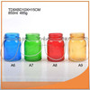 Nice colored hanging glass tealight candle holder with ISO9001-2008