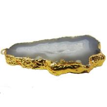 Large Agate Druzy Geode Pendant