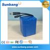 Good quality 3.7v 1s3p 18650 li-ion battery pack 6000mah for warm wear