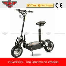"""1000W 36V Adult Electric Scooter with 12"""" Wheels (HP107E-B)"""