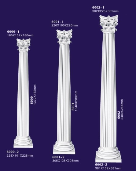 Pu Foam Polyurethane Plastic Pillars For Decoration Decorative Lighted Lowes Roman Column And
