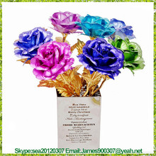 24k Gold Rose - Best Gift for Valentine's Day, Mother's Day, Christmas, Birthday, Wedding- Handcrafted & Last Forever!