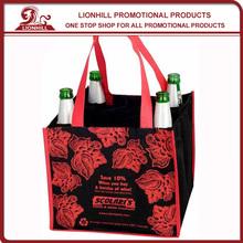 promotional custom cotton tote bottle bag