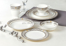 47pcs Luxury Porcelain, Fine Bone China Dinnerware Set