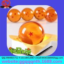 craft custom 4.3CM Anime Cosplay Stars transparent Clear translucent Crystal glass acrylic resin plastic round Dragon Ball