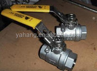Female thread lever operation floating ball valve