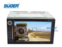 Suoer 6.2 inch double din car stereo DVD player with bluetooth MP4/radio/USB/SD Car DVD Player