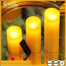 Factory Direct Selling 3pcs Flameless USB Power supply and battery dual boot LED Candle with Moving Flame