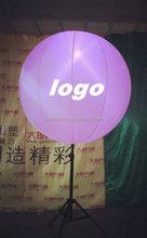 Custom logo printed led light outdoor promotion balloon