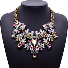 Hot Selling Fashion Mixed Style Collar Necklace ,Gold Watch Chain Statement Necklace ,Colorful Necklace