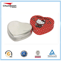 Heart shaped gift metal tin can
