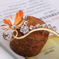 Fashion scarf accessory new rhinestone crystal crochet flowers brooches XZ005