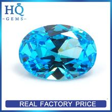 Loose Oval Cut Aquamarine Blue Cubic Zirconia CZ Stone