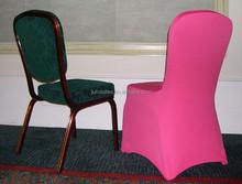 fushia lycra/spandex/elastic chair cover for wedding/banquet cheap wholesale