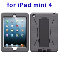 3-in-1 Screen Protector Built-in Hybrid case for iPad mini 4 case with Kickstand