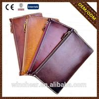 Good quality retro leather wallet bag with made in China
