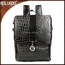 Lastest China wholesale fashion custom women leather backpack black
