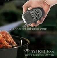 pork beef meat wireless bbq thermometer waterproof stainless steel probe high temperature wireless bbq thermometer