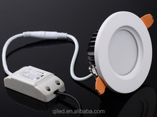 round 6W 3inch 7W LED Downlight aluminum housing and milky arylic cover