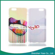 Colorful Trendy Lip Pattern Hard PC Protective Case for iPhone 6