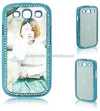 LED Fashion Diamond bling Sublimation phone case for Sam-Sung S3