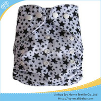 Star Printed PUL Happy Reualbe Pocket Clothes Sleepy Baby Diapers