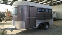 deluxe angle load horse float trailers with living quarters