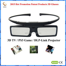 2015 Hot Sell Patent Products 3D Glasses buy direct from China Factory 3D Active Glasses 3D DLP Glasses for projector