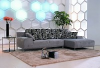 Modern Hot Sale Fashion Gray Color Metal Legs VIP Sofa 3 Seater Sofa Dimensions Living Room Big Size Sofa