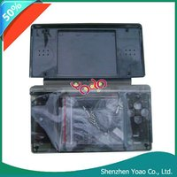 Black Crystal Case Cover+Screenguard For Nintendo DS Lite