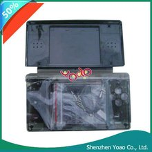 Black Crystal Case Cover+Screenguard For Nintendo DS Lite