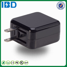 2015 hot selling IBD smart intelligent cell phone charger square plug fold usb home charger for ipad air ipod