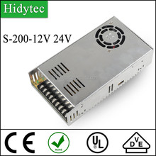 Competitive price S-200-12V 24V Single Output Switching power supply for LED Strip light smps